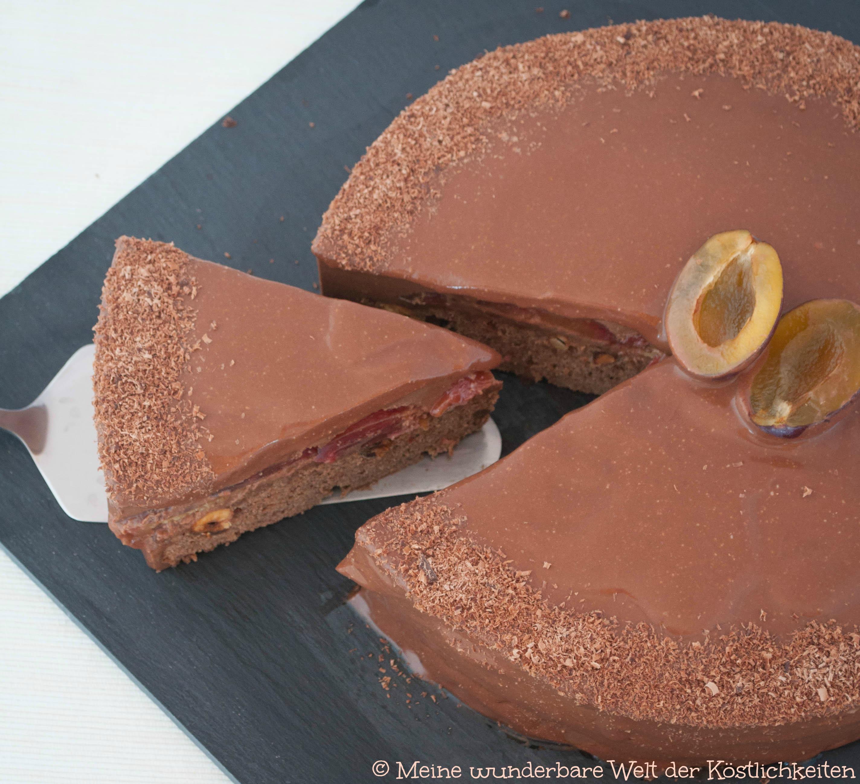 Diese Schoko-Zwetschgen-Torte kommt von Meine Welt der Köstlichkeiten.