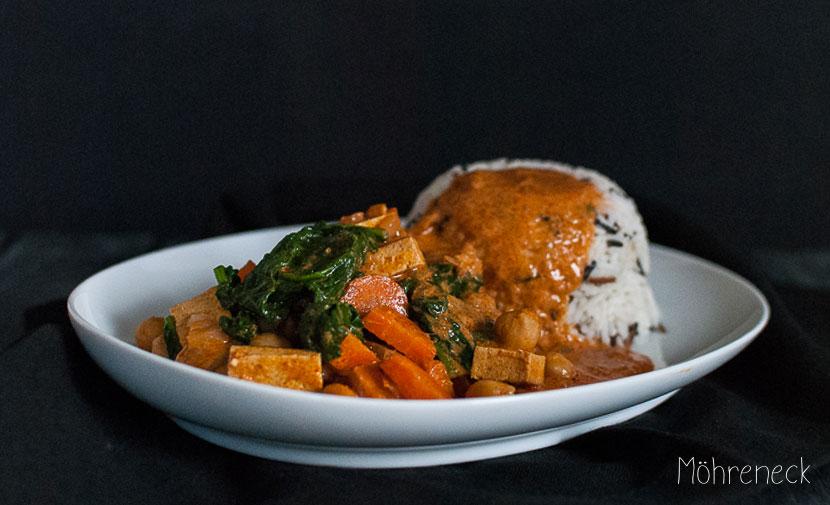 Kichererbsen-Spinat-Curry