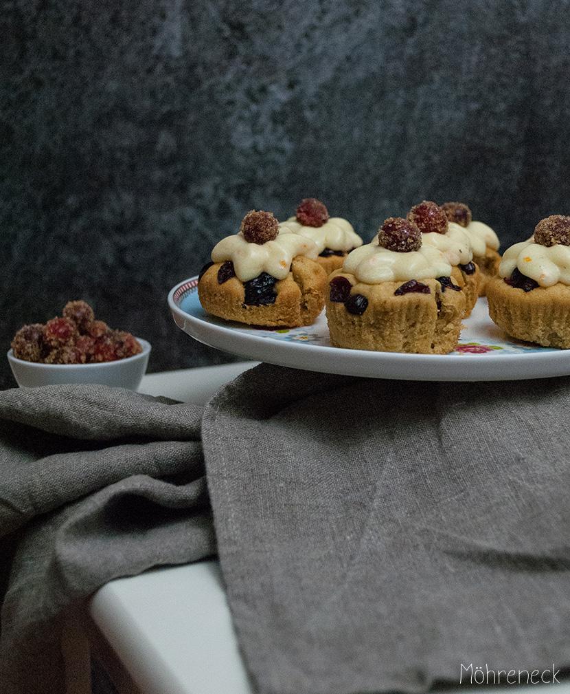 Cranberry-Orangen-Cupcakes