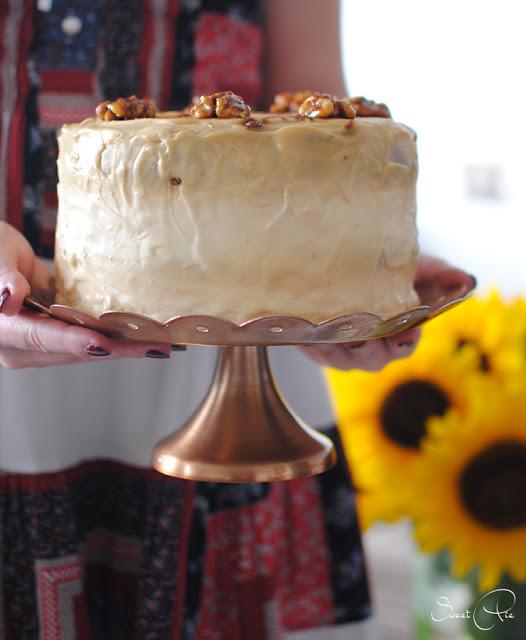 Apfel Walnuss Torte Mit Karamell