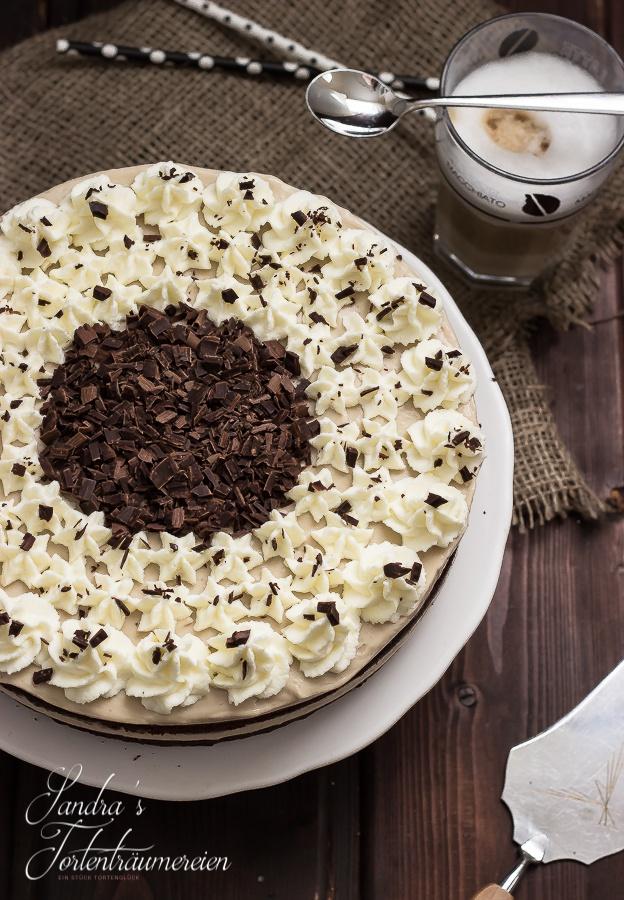 Gestartet haben wir mit dieser tollen Latte-Macchiato-Torte von Sandra's Tortenträumereien