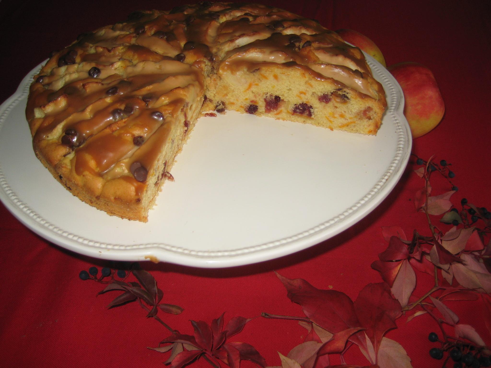 Das ist der zweite Kuchen von Marisol R. ein Kürbiskuchen mit Kaffee-Karamell.