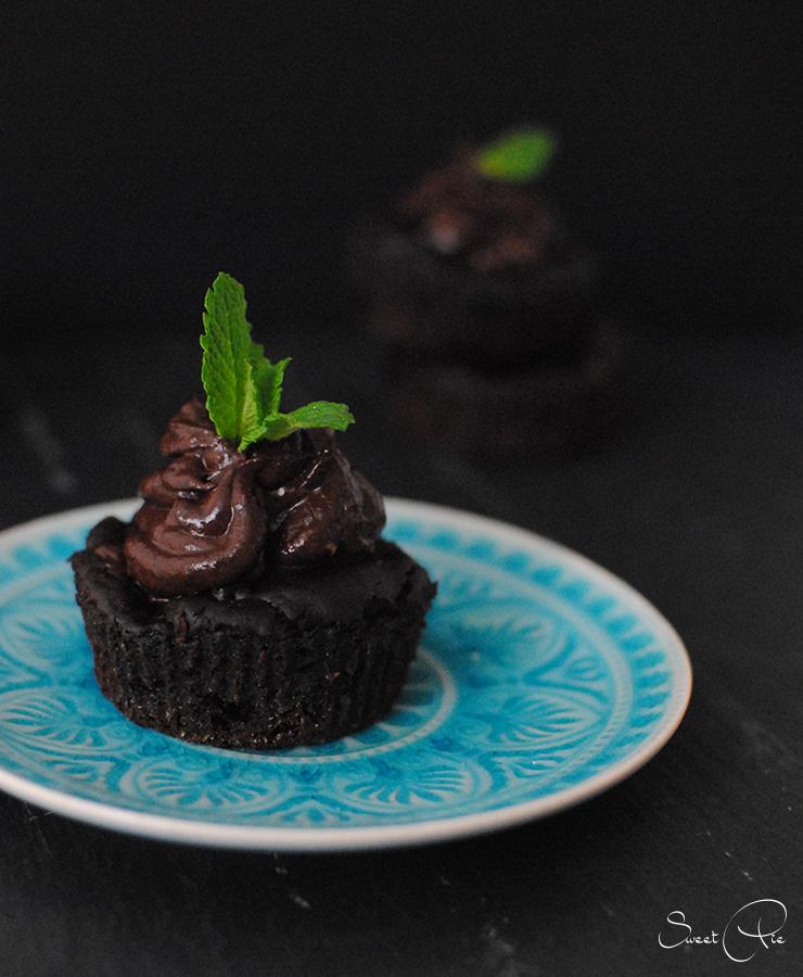 "Meine erste ""süße Sünde"": Schokoladen Avocado Cupcakes"
