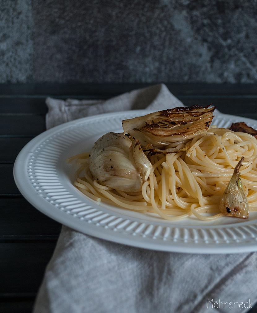Pasta mit gebratenem Fenchel