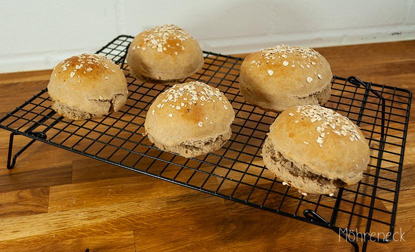 Vollkorn-Burger-Brötchen