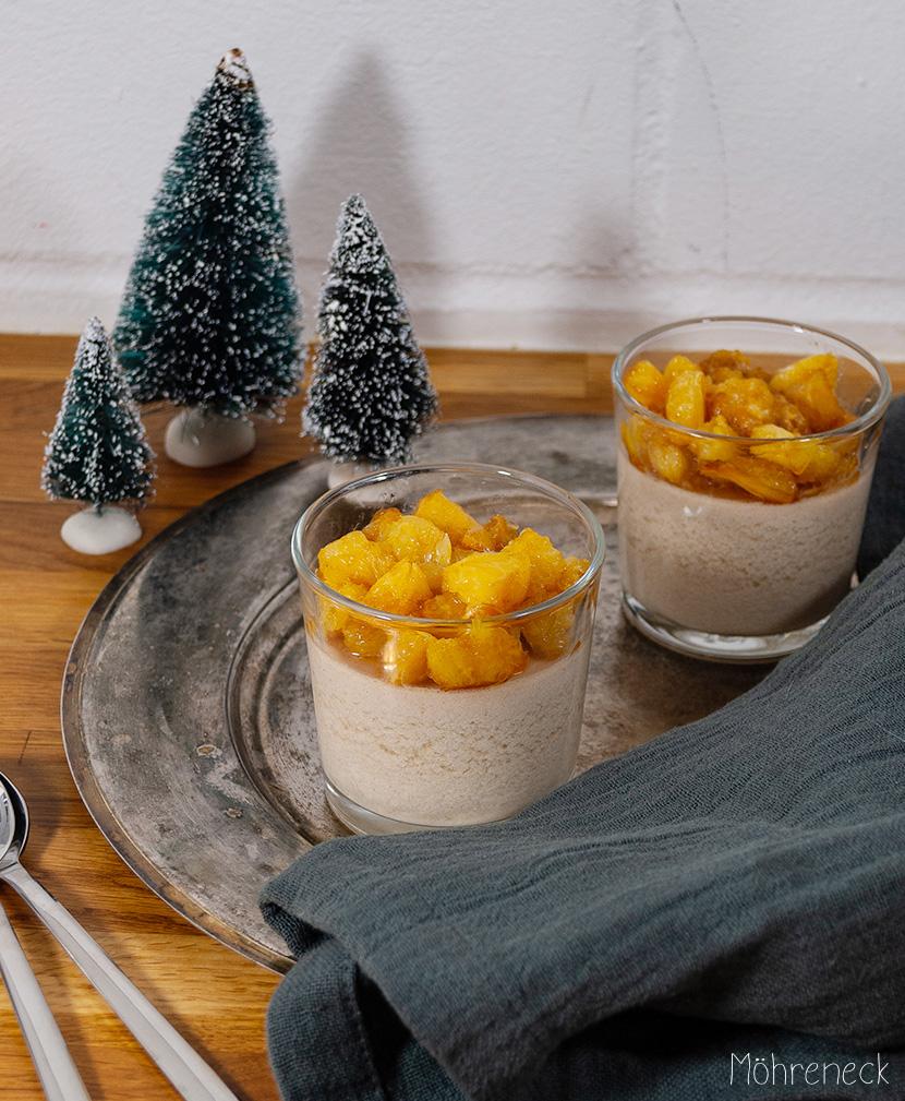 Orangen-Zimt Panna cotta