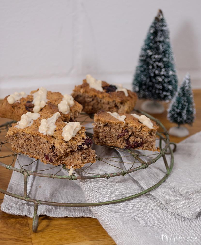 Cranberry-Lebkuchen-Cookiebars