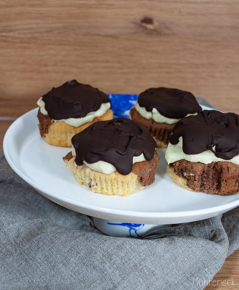 Donauwellen-Cupcakes
