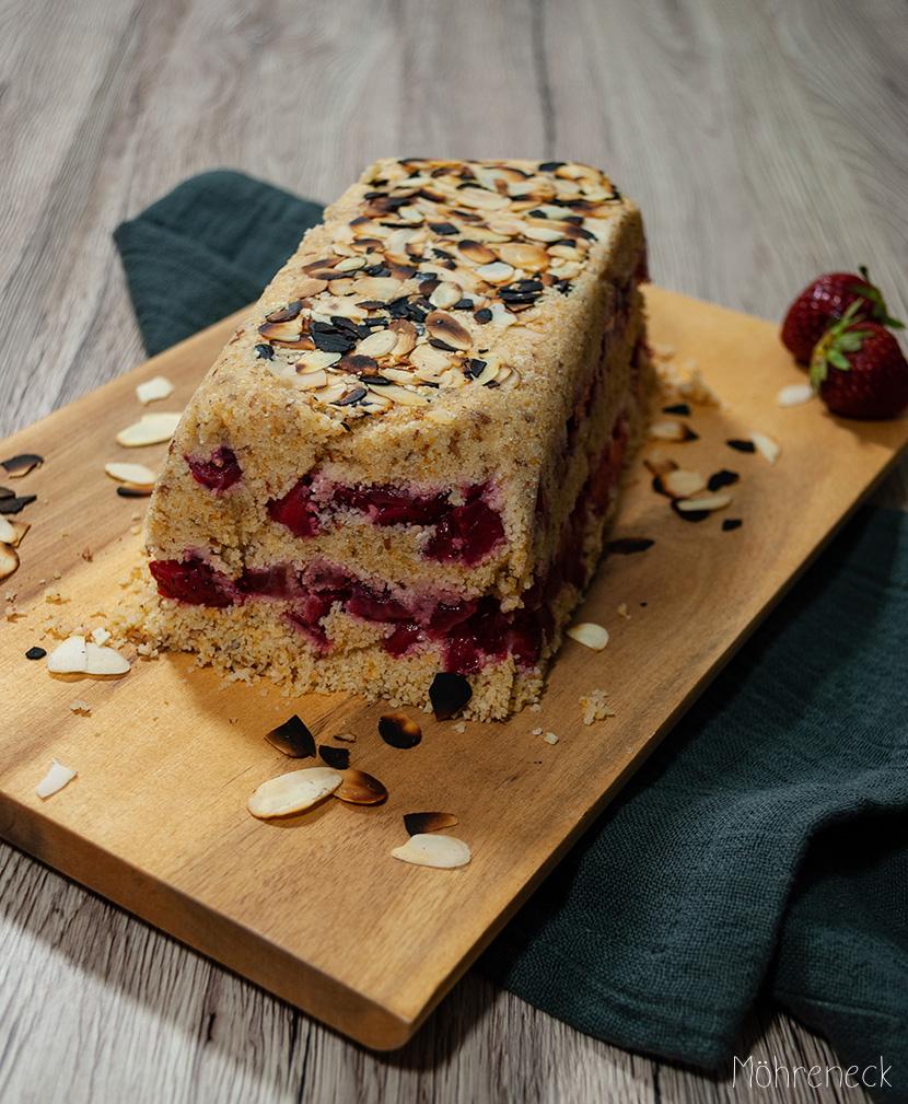 Erdbeer-Zwieback-Kuchen