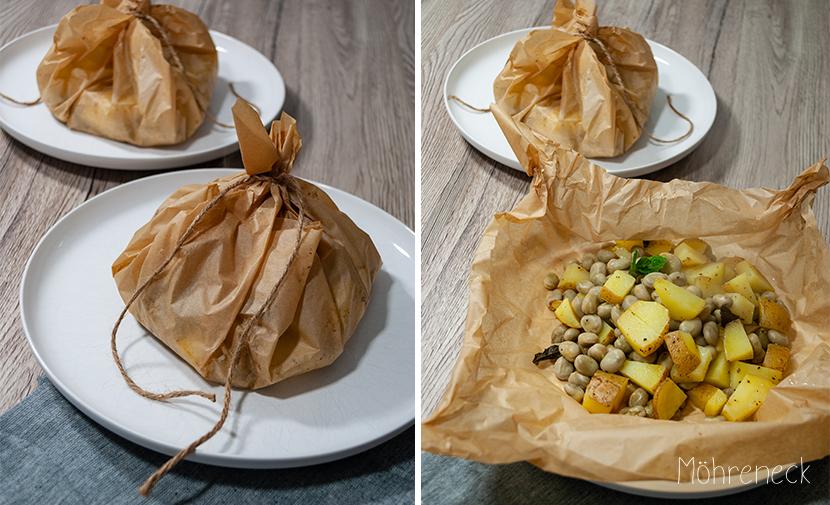 Kartoffeln mit grünen Bohnen