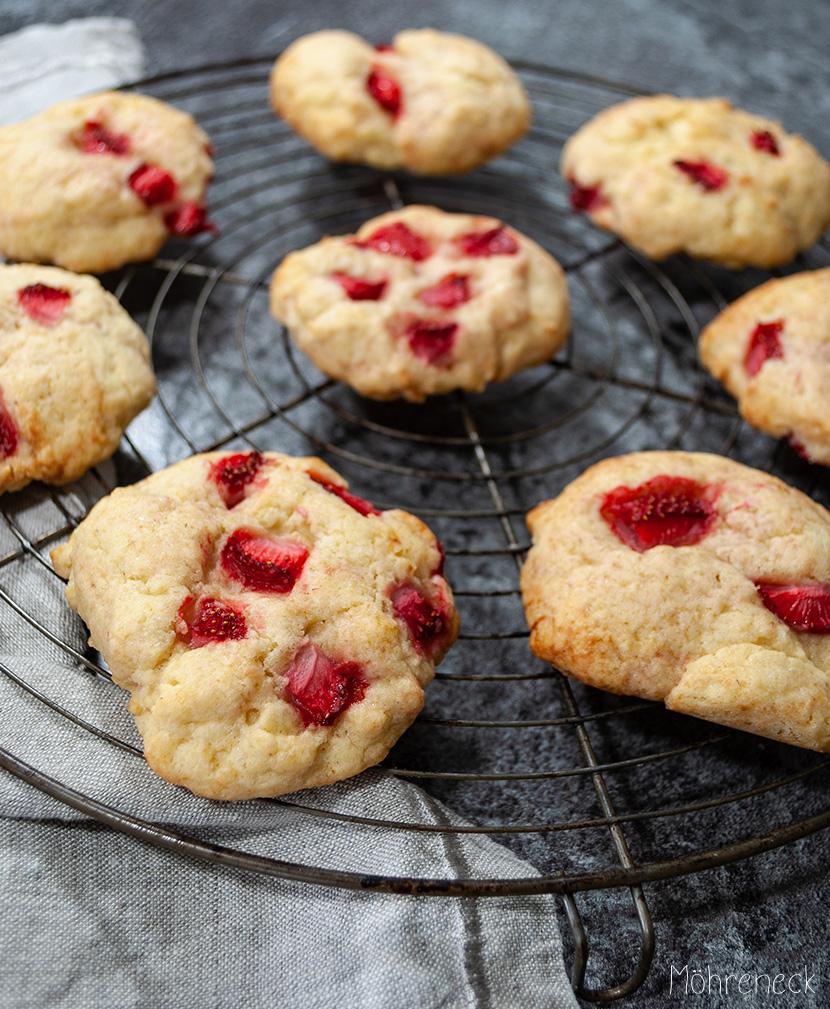 Erdbeercookies