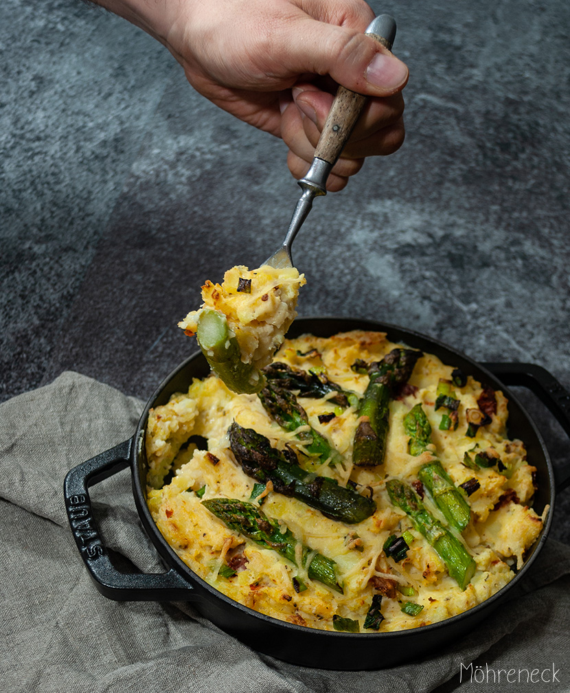 Kartoffel-Spargel-Gratin