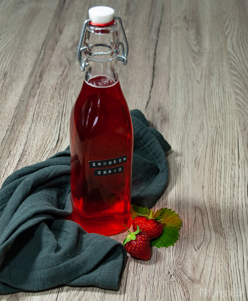 Erdbeeren haltbar machen: Erdbeeressig