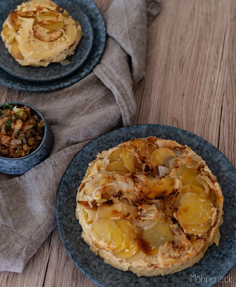 Tortilla mit Zwiebelsalsa